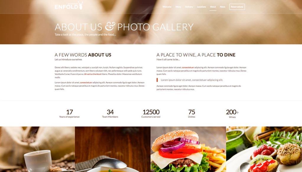Esempio di sito - Chi siamo e Gallery.